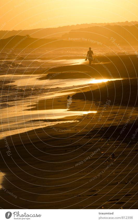 Walking on sunshine Mensch Ferien & Urlaub & Reisen Jugendliche schön Wasser Sommer Sonne Meer Erholung ruhig Strand 18-30 Jahre Ferne gelb Erwachsene feminin