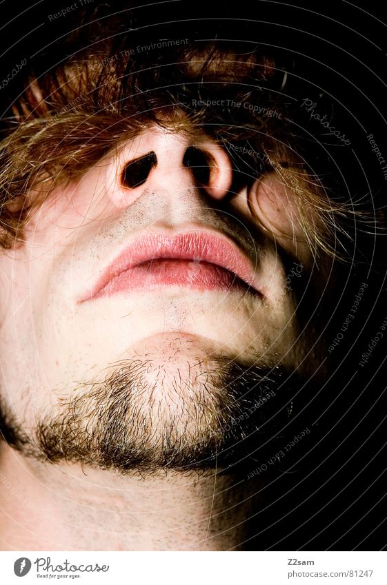 jetz werds haarig! Mann Gesicht Haare & Frisuren Kopf Mund Nase Bart verstecken verdeckt geradeaus