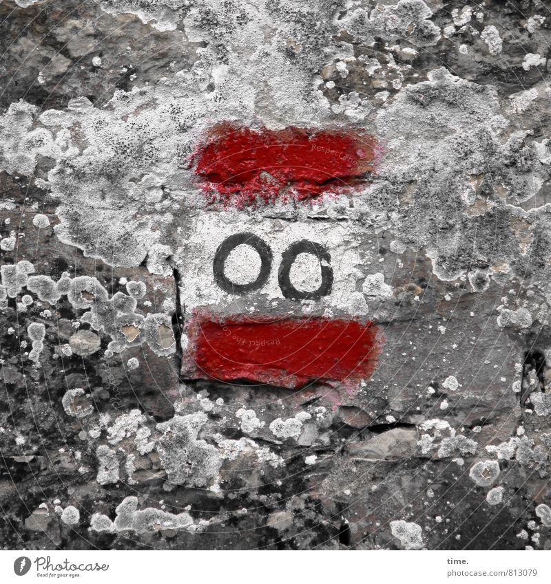 Friedhofsclown Flechten Mauer Wand Farbe Stein Zeichen Ornament Schilder & Markierungen Hinweisschild Warnschild Linie Kreis alt historisch ästhetisch Design