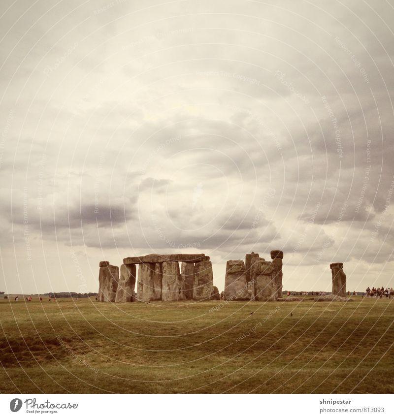 Stonehenge Natur Ferien & Urlaub & Reisen alt Sommer Landschaft Ferne Umwelt Wiese Architektur Stein Tourismus Europa Ausflug einzigartig Kultur Bauwerk