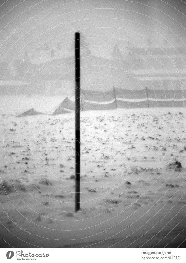 blizzard Winter Schnee Landschaft Feld Sturm Zaun Rauschen Barriere