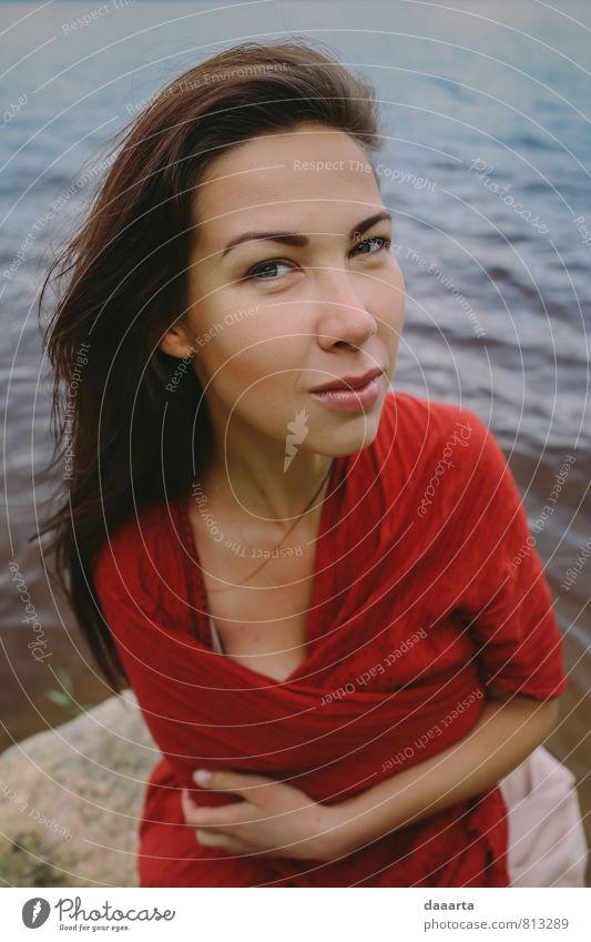 Rotstimmung elegant Stil schön harmonisch Sinnesorgane Erholung feminin Wasser Denken hängen Coolness authentisch einfach Erfolg frei Freundlichkeit