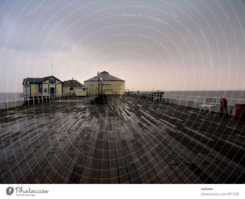 End of the Pier Strand Küste desolat