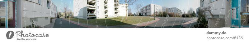 Ghetto-Panorama-360° Haus Leben Wiese Architektur groß Panorama (Bildformat) Bayern Franken Würzburg
