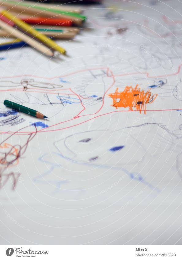 Kritzel II Spielen Freizeit & Hobby Kreativität Papier malen zeichnen Kindergarten Schreibstift Kindererziehung Schreibwaren Farbstift Kritzelei Kinderzeichnung