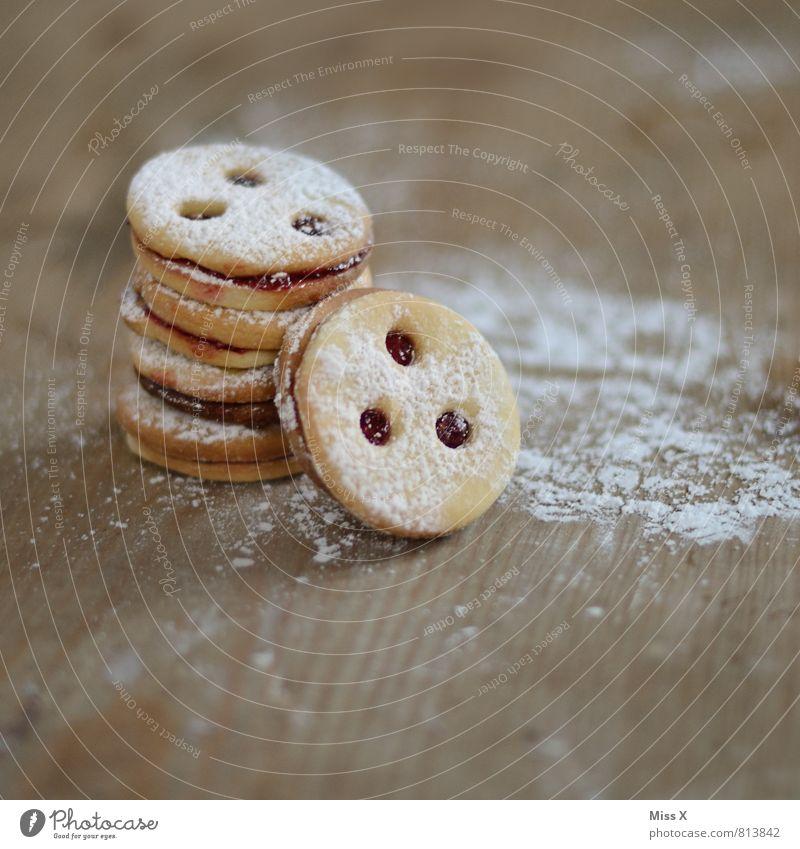 Linzer Auge Weihnachten & Advent Lebensmittel Ernährung Tisch süß Kochen & Garen & Backen Süßwaren lecker Backwaren Teigwaren Keks Plätzchen Marmelade