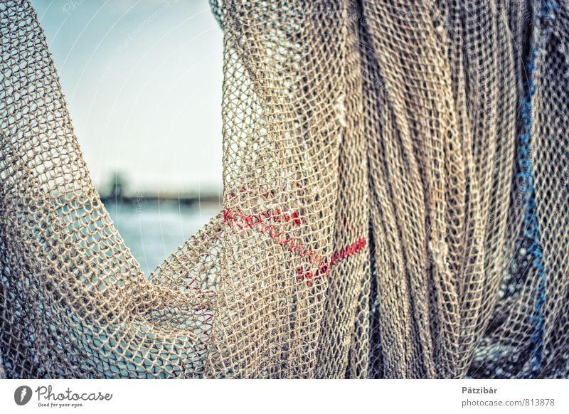 Durchblick Netz Fischernetz Meer Erscheinung Hafen Wasserfahrzeug Fernweh Sehnsucht Ferien & Urlaub & Reisen Rahmen Handwerk Segeln Fischereiwirtschaft