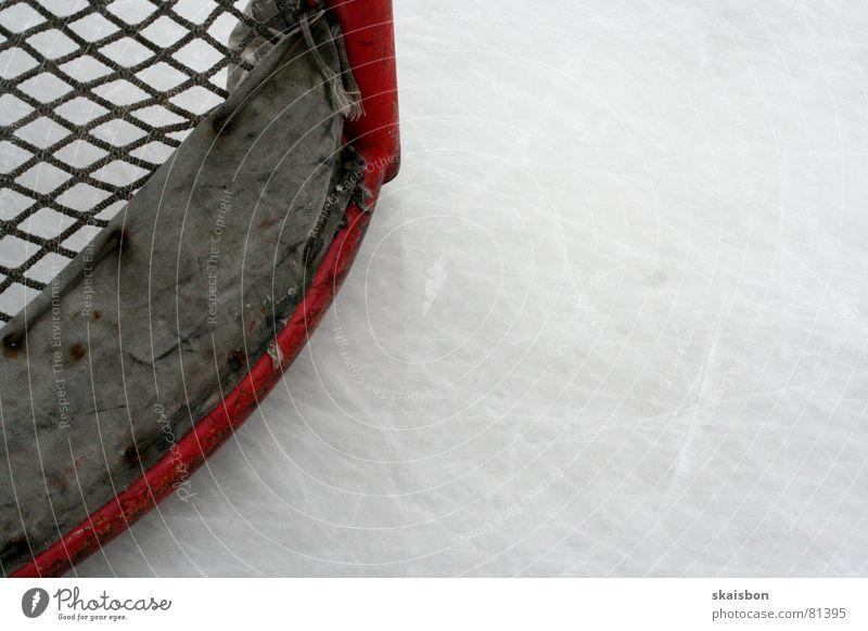 flach in die ecke Sport kalt Spielen Eis Hintergrundbild frisch Frost Netz Freizeit & Hobby Spuren Tor Entf Glätte Pfosten Einladung Gutschein
