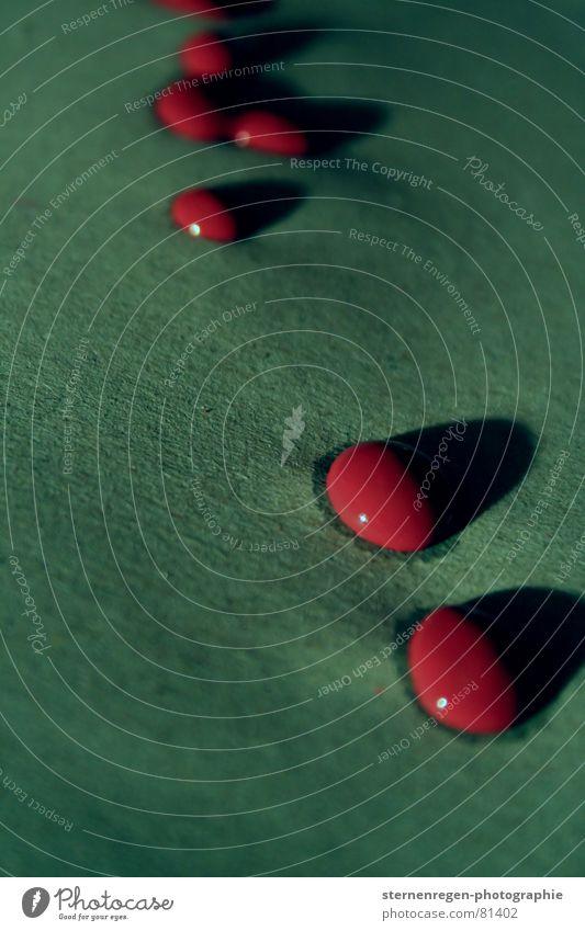 drops- 2 rot grün chaotisch streichen Kunst Schlagschatten Farbgestaltung Anstrich Makroaufnahme Nahaufnahme Farbe Wassertropfen Schatten petrol Tropfen