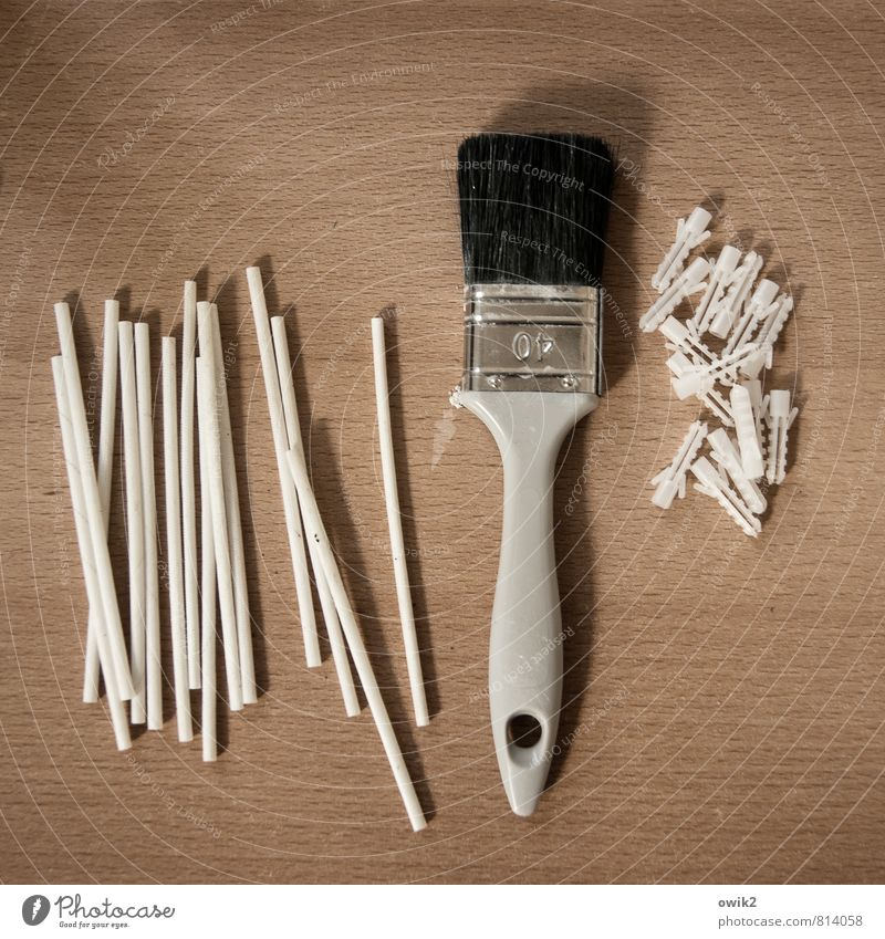 Kompetenzteam Freizeit & Hobby heimwerken Renovieren Werkzeug Dinge Pinsel Röhren Dübel Technik & Technologie Holz Metall Kunststoff liegen viele Ordnungsliebe