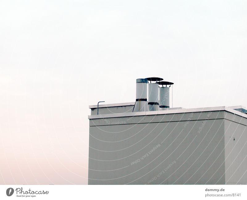 Bunker grau Architektur Beton Schornstein