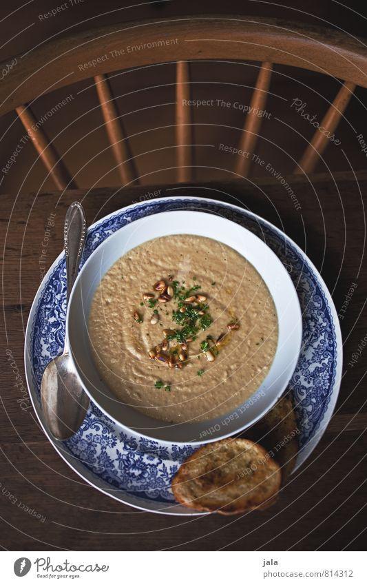 petersilienwurzelsuppe Lebensmittel Gemüse Brot Brötchen Suppe Petersilienwurzelsuppe Gemüsesuppe Ernährung Mittagessen Bioprodukte Vegetarische Ernährung