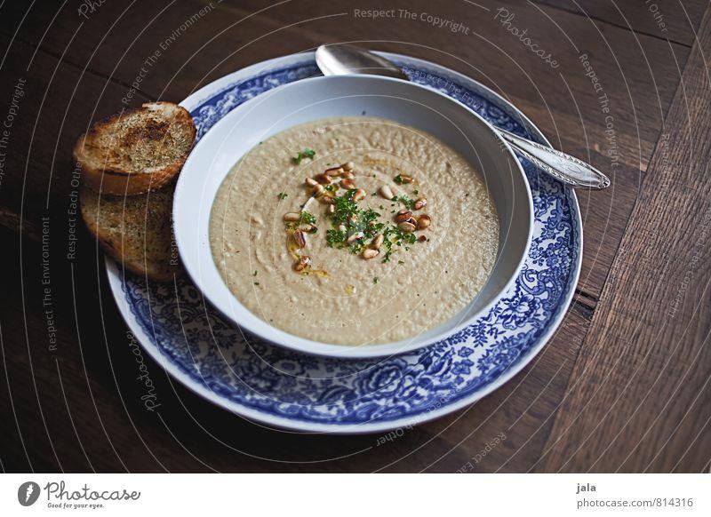 suppe Gesunde Ernährung natürlich Gesundheit Lebensmittel frisch lecker Appetit & Hunger Geschirr Schalen & Schüsseln Teller Löffel Holztisch Suppe Petersilie