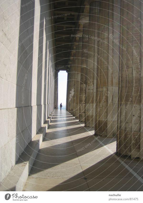 Walhalla Denkmal Regensburg Denkmalschutz Architektur ruhmeshalle totenhalle könig ludwig 1. Säule Arkaden Gang