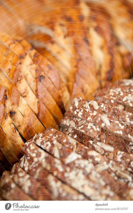 Brot gelb Essen braun Lebensmittel orange genießen Ernährung Fitness Getreide Bioprodukte Frühstück Backwaren Abendessen Picknick Diät