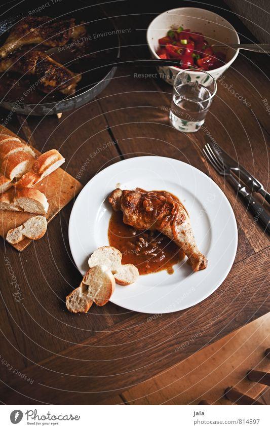 sherry hähnchen natürlich Lebensmittel frisch Trinkwasser Ernährung Getränk lecker Appetit & Hunger Geschirr Teller Fleisch Messer Brötchen Mittagessen Salat Salatbeilage