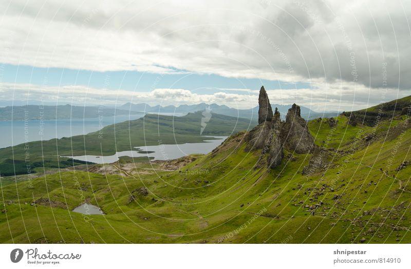 Old Man of Storr | Isle of Skye, Scotland Himmel Natur Ferien & Urlaub & Reisen Sommer Landschaft Berge u. Gebirge Umwelt außergewöhnlich Felsen Regen