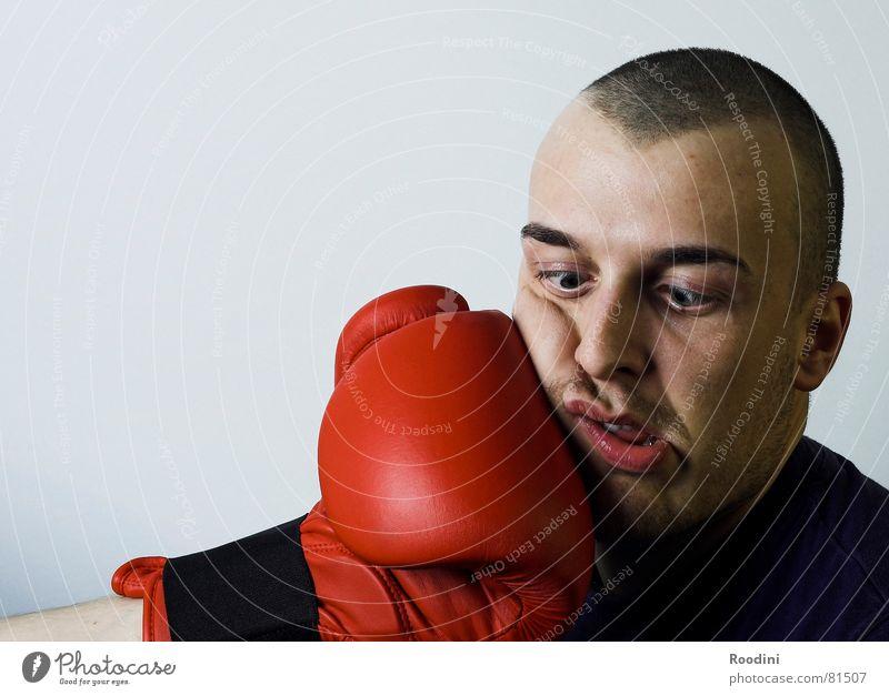 Volltreffer Hand Gesicht Sport Erfolg Kreis Finger rund Gesichtsausdruck Jahrmarkt Gewalt Sport-Training Sportler Ausdauer Grimasse Handschuhe Haken