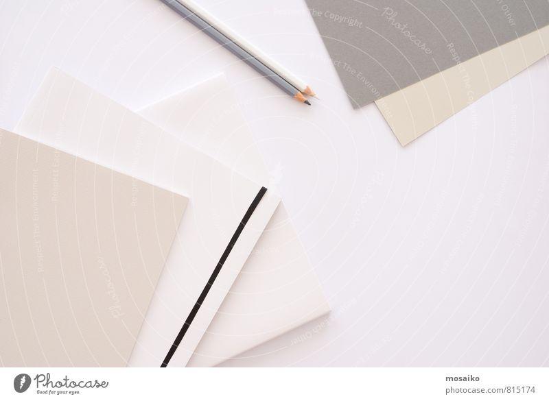 Schreibtisch weiß Architektur Stil Hintergrundbild Arbeit & Erwerbstätigkeit Business Lifestyle Büro elegant Design Erfolg Tisch Kreativität Studium Papier Idee