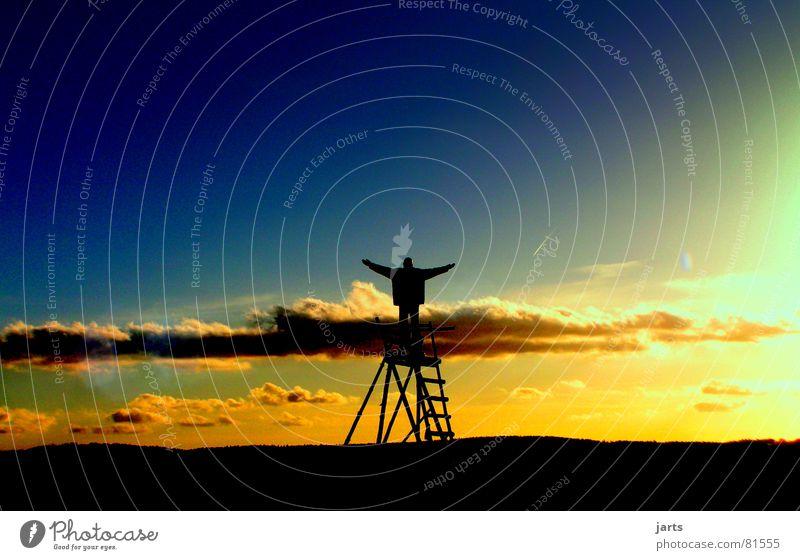 Ich liebe dieses Leben.... Wolken Sonnenuntergang Zufriedenheit Horizont Aussicht Freiheit Abend Dämmerung Fröhlichkeit Hoffnung Religion & Glaube Erholung