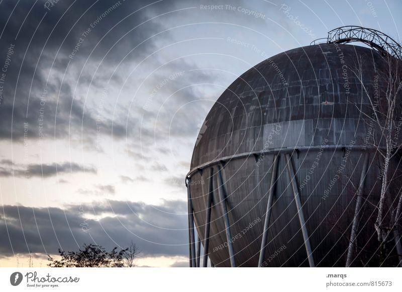 Kugel Himmel Natur alt Wolken Umwelt Architektur Energiewirtschaft Technik & Technologie Industrie Bauwerk Umweltschutz Lager Wirtschaft Gas