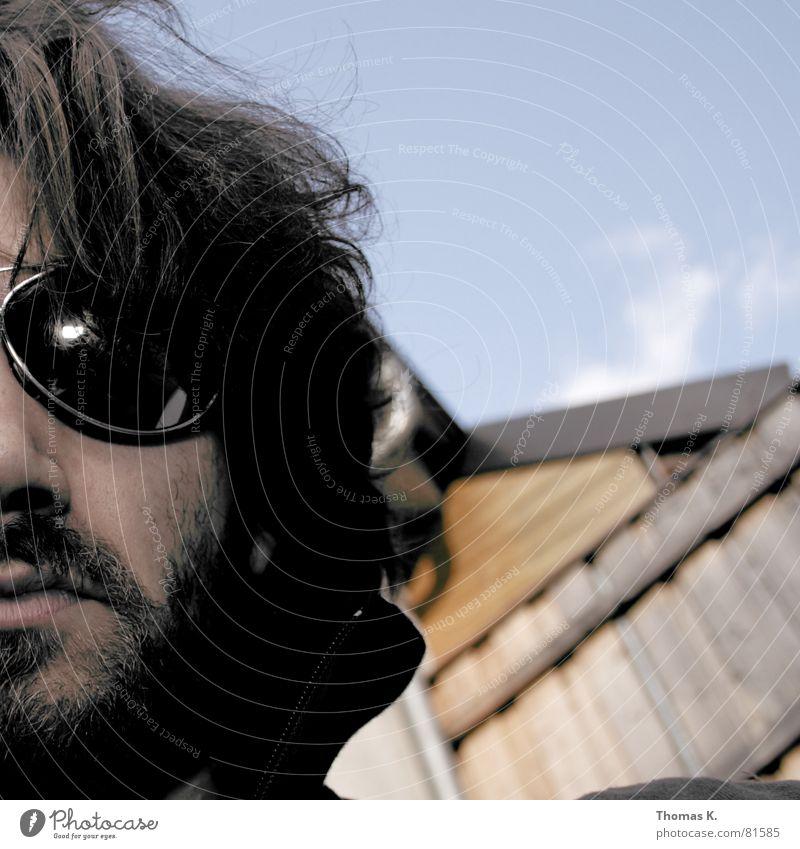 Spam (oder™:nicht ?) Porträt Schulter Brille Sonnenbrille lang Torso Schlüsselbein Reflexion & Spiegelung Haare & Frisuren Stirn Bart langsam verschlafen