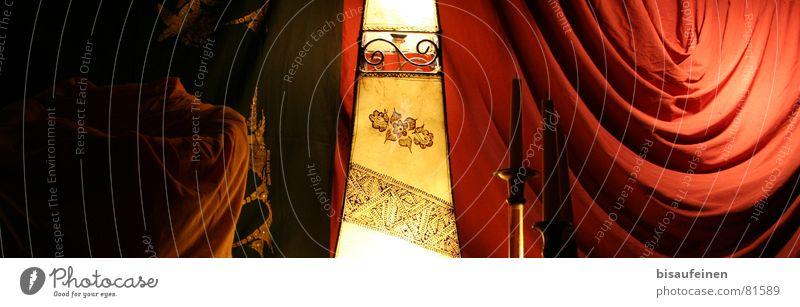 Orient(tick) Naher und Mittlerer Osten halbdunkel Physik Lampe Licht Vorhang Kerze Muster Erkenntnis Faltenwurf Morgenland knittern Dekoration & Verzierung