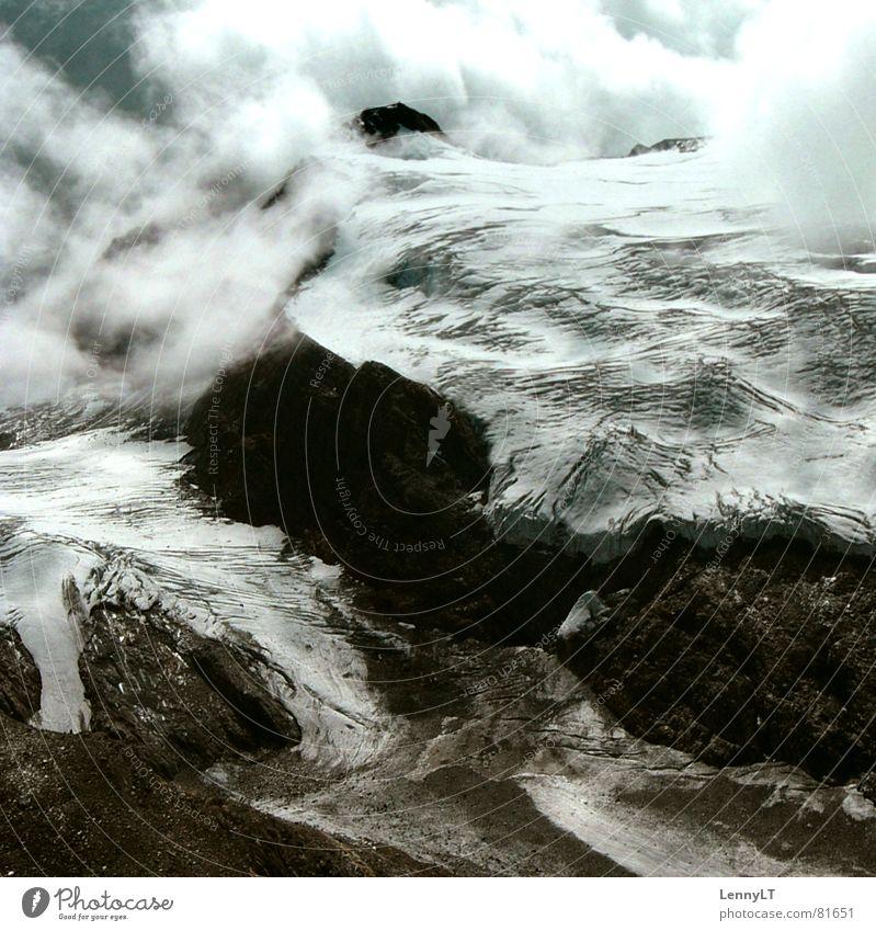 GREENHOUSE EFFECT unfreundlich schmelzen Gletscherschmelze Bergsteigen Ferien & Urlaub & Reisen aufsteigen Bundesland Tirol Wolken Eis kalt Ötztal Besteigung