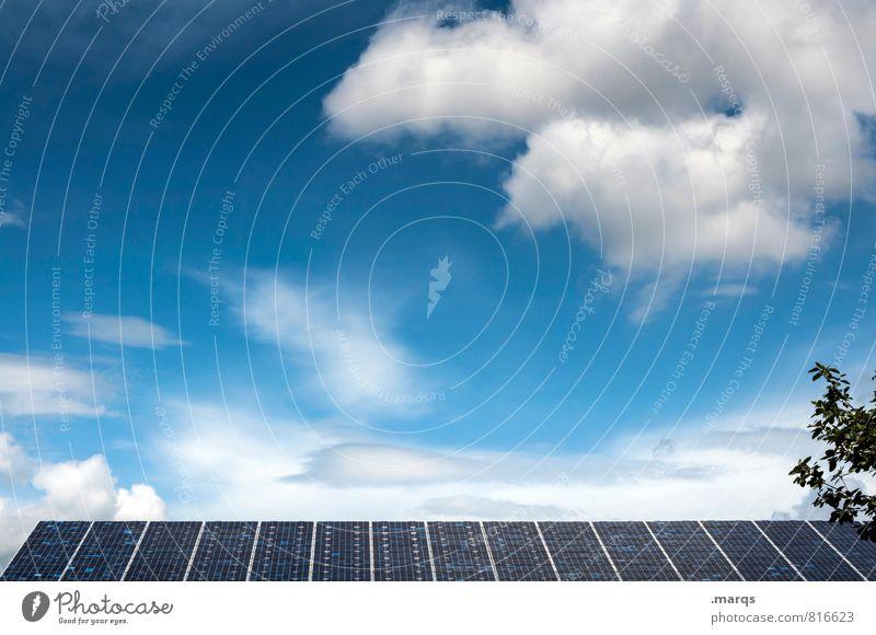 Solar Technik & Technologie Wissenschaften High-Tech Energiewirtschaft Sonnenenergie Energiekrise Solarzelle Umwelt Natur Himmel Wolken Schönes Wetter Dach