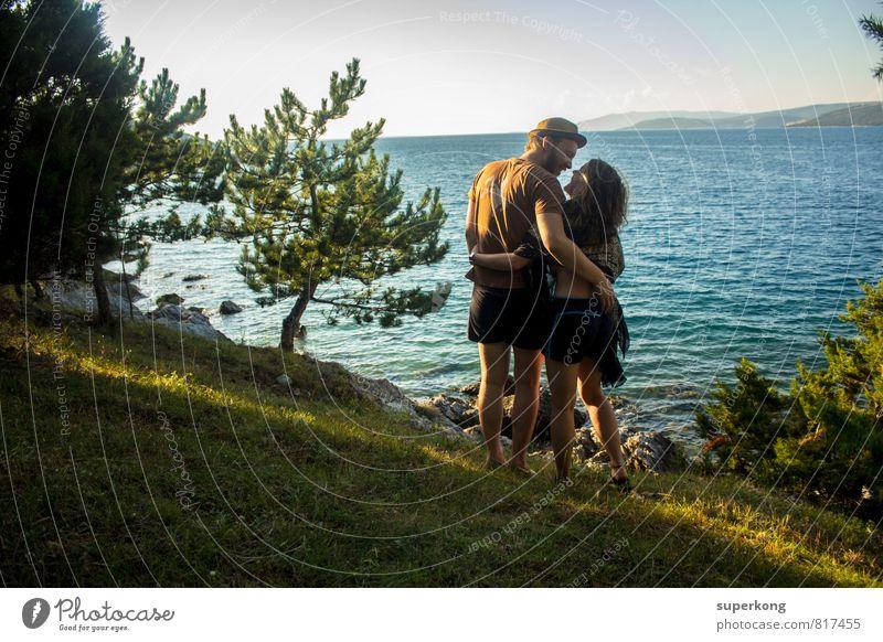 Urlaub Freude Wohlgefühl Zufriedenheit Sinnesorgane Erholung ruhig Ferien & Urlaub & Reisen Ferne Sommer Sommerurlaub Sonne Meer Insel Wellen Mensch maskulin