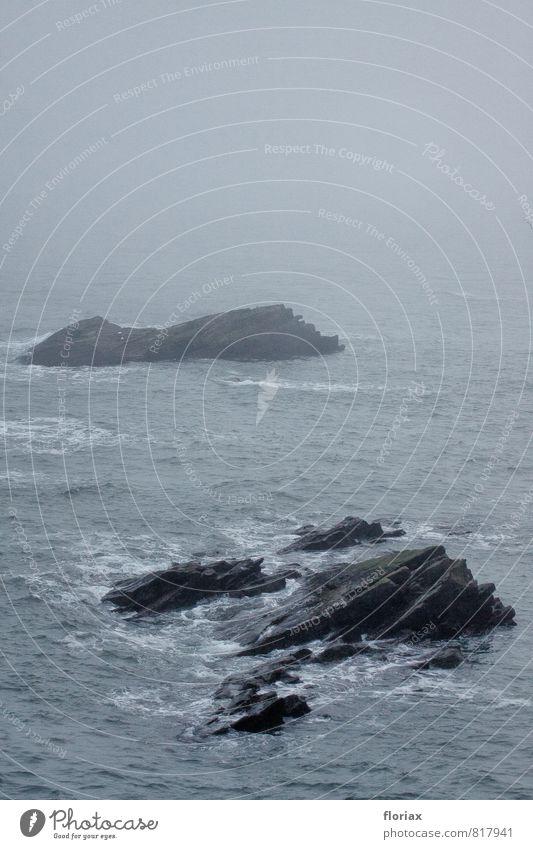 fernweh Natur Ferien & Urlaub & Reisen Wasser Meer Landschaft Ferne Umwelt Küste Freiheit Felsen Luft Wetter Angst Nebel Wellen Wind