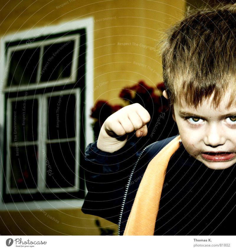 Ich zahls Dir heim...!! blau Gesicht Auge Kopf Kraft Angst Arme Nase Finger verrückt Perspektive Kreis Boxsport Wut Gewalt Hut