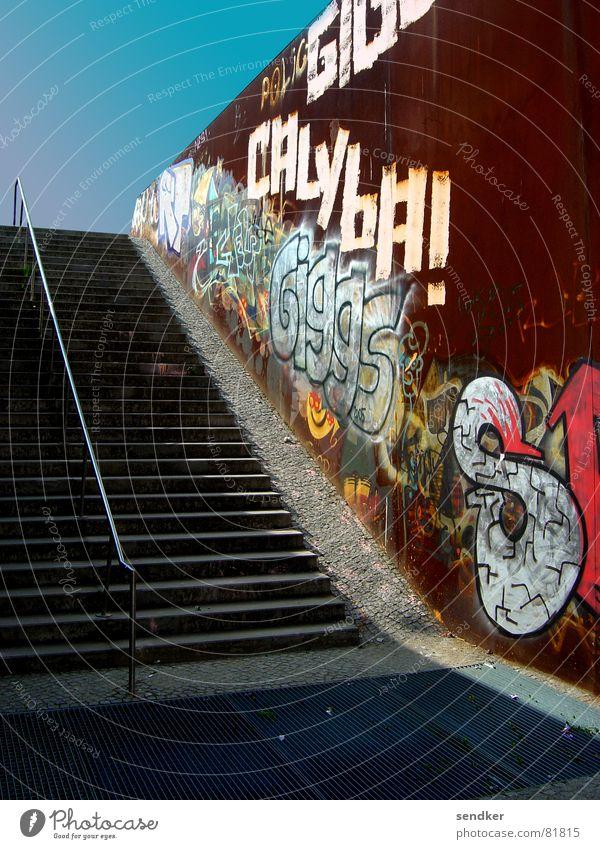 stairway to wedding Himmel Einsamkeit Berlin Metall Beton Treppe Rost Verkehrswege aufwärts