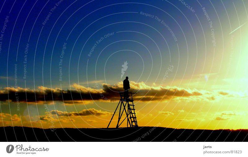 Niemandem gehorchen müssen... Himmel Sonne Freude Wolken Einsamkeit Leben Freiheit Glück Zufriedenheit frei Horizont Sehnsucht Fernweh Abenddämmerung