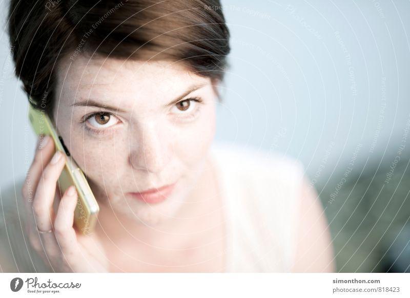 Telefon Mensch Jugendliche 18-30 Jahre Erwachsene feminin sprechen Business Erfolg Kommunizieren Studium Telekommunikation Hilfsbereitschaft planen Hoffnung geheimnisvoll Netzwerk