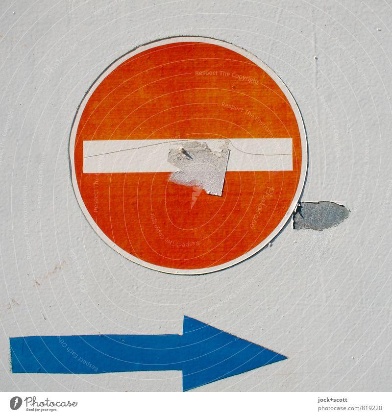 267 & Umleitung Design Subkultur Straßenkunst Verkehrswege Wege & Pfade Verbotsschild Pfeil Piktogramm authentisch einfach fest diszipliniert Ordnungsliebe Idee