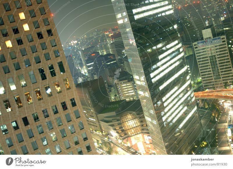 TOKYO TOWERS Tokyo Stadt Japan Hochhaus Nacht Licht Hotel Stadtzentrum ginza