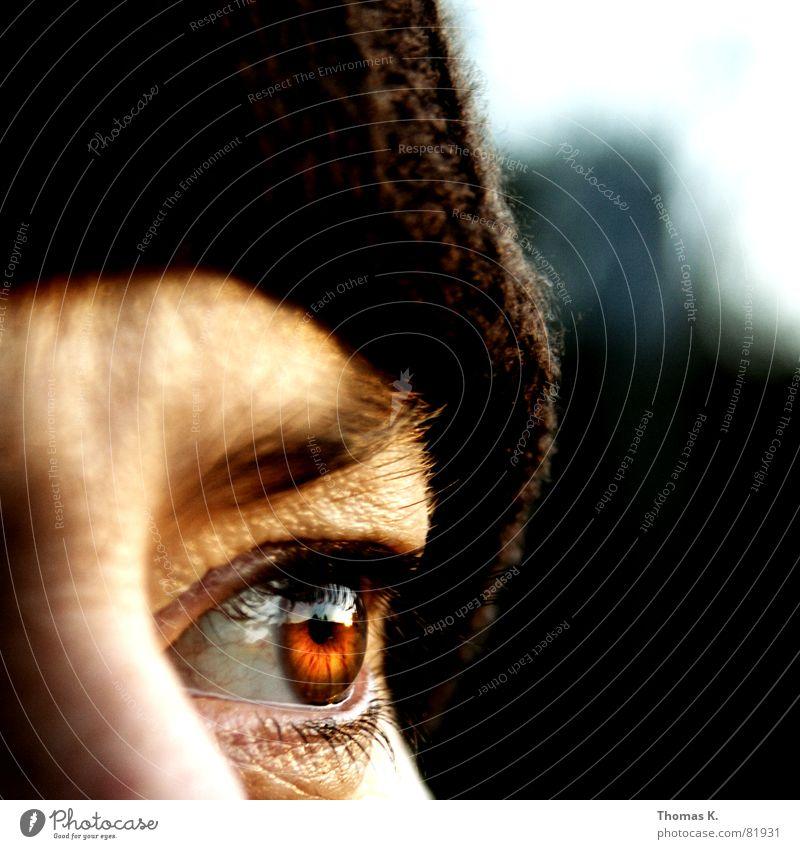 Durchatmen Regenbogenhaut Porträt Pupille Abendsonne Mütze Augenbraue Nahaufnahme Gesicht Teint Sonnenuntergang Hautfarbe Dämmerung Aussicht Baseballmütze