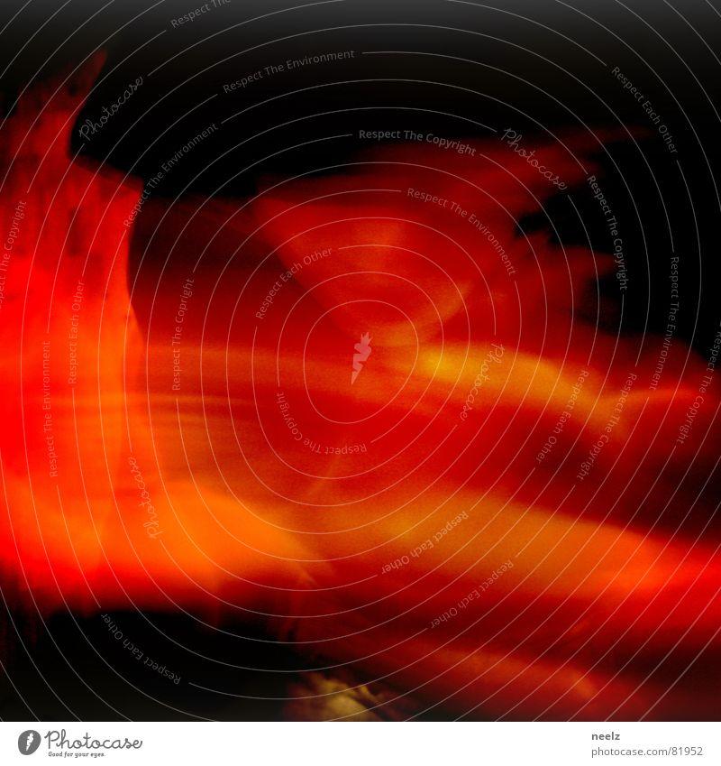 m a g  i s c h Zauberei u. Magie Zauberkunde rot schwarz gestikulieren orange Hexe Voodoo Dienstleistungsgewerbe verhuscht Bewegung gefühlsbewegung