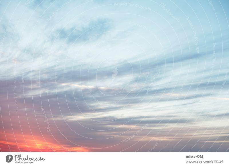 Sommerhimmel. Himmel Natur blau Sommer Sonne Wolken Umwelt Horizont Wetter orange Zufriedenheit Klima ästhetisch Schönes Wetter Ewigkeit Abenddämmerung