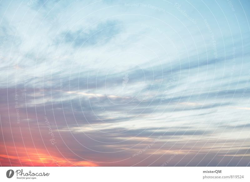 Sommerhimmel. Umwelt Natur Himmel nur Himmel Wolken Horizont Sonne Sonnenaufgang Sonnenuntergang Sonnenlicht Klima Klimawandel Wetter Schönes Wetter ästhetisch