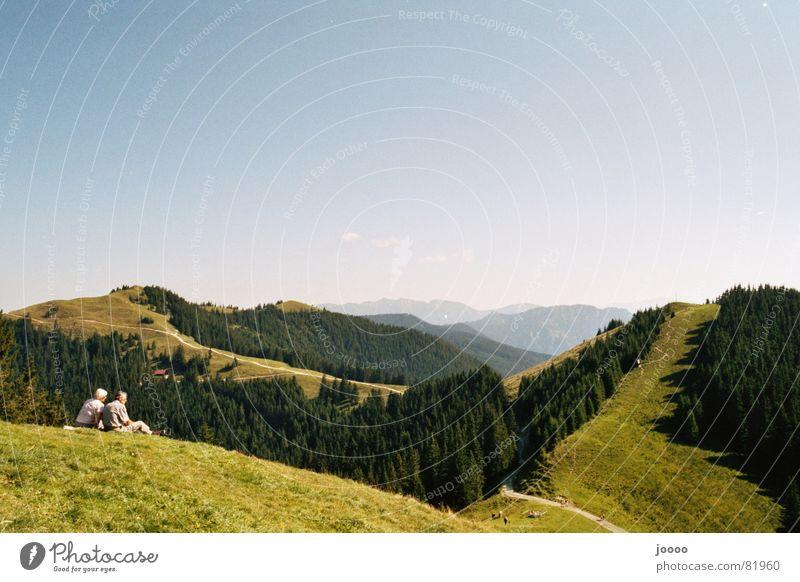 Bergblick Natur Sommer Berge u. Gebirge wandern Pause Alpen