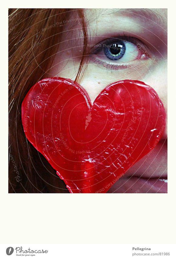 I see your heartbeat Gesicht Liebe Auge Ernährung Gefühle Herz Angst süß beobachten Schmerz verstecken Zucker