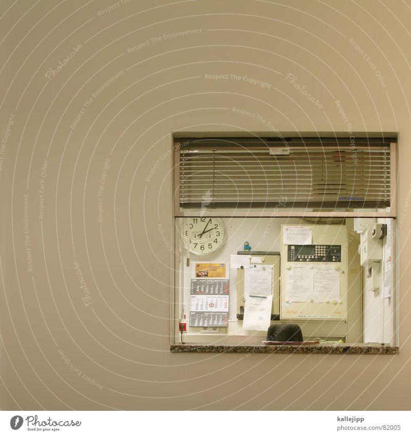 mittagspause Arbeit & Erwerbstätigkeit Tür Zeit frei Stuhl Uhr Information Beruf Tor Dienstleistungsgewerbe Eingang Flur Foyer Barriere Kalender Mitarbeiter