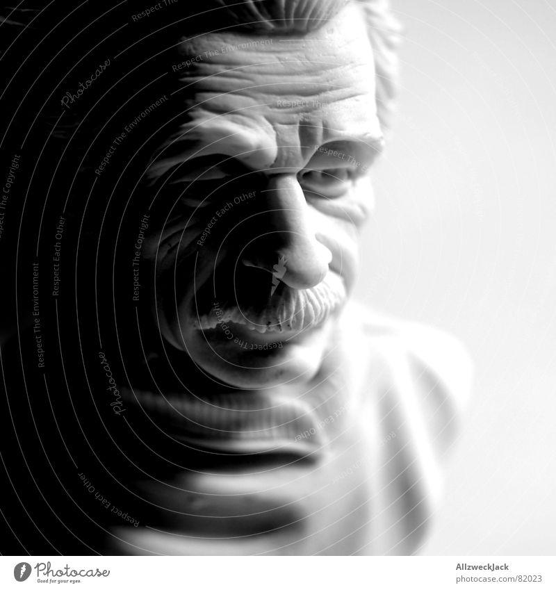 Albertissimo Wissenschaftler Physiker Atombombe Büste Porträt schwarz clever Oberlippenbart brilliant Schatten Statue kompetent Skulptur geistreich klug