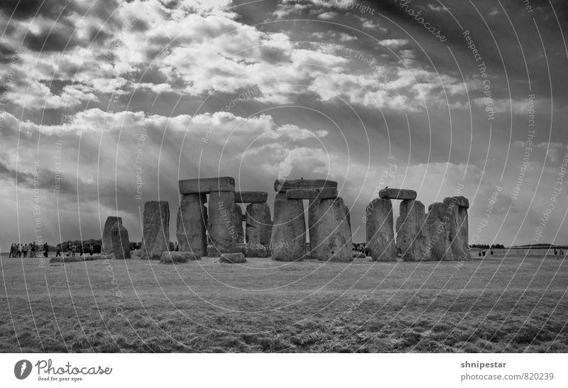 Stonehenge Natur Ferien & Urlaub & Reisen Sommer Landschaft Wolken Umwelt Architektur Religion & Glaube außergewöhnlich Tourismus Klima Europa Ausflug