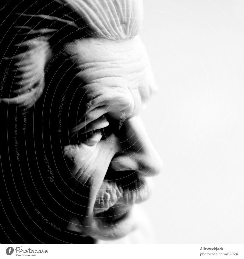 Albertissimo 2 Wissenschaftler Physiker Büste Porträt schwarz clever Atombombe Oberlippenbart brilliant Statue kompetent Skulptur geistreich klug Brillant