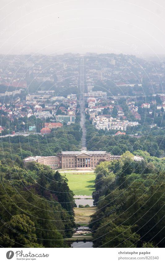 Heiter bis wolkig Himmel Stadt Sommer Sonne Wolken Straße Architektur Gebäude Deutschland Park Wetter Klima hoch Schönes Wetter Kultur historisch