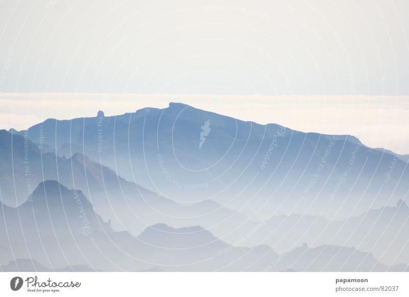 The blue mountains Farbfoto Außenaufnahme Menschenleer Morgen Panorama (Aussicht) Blick Ferien & Urlaub & Reisen Ausflug Ferne Sommer Insel Berge u. Gebirge