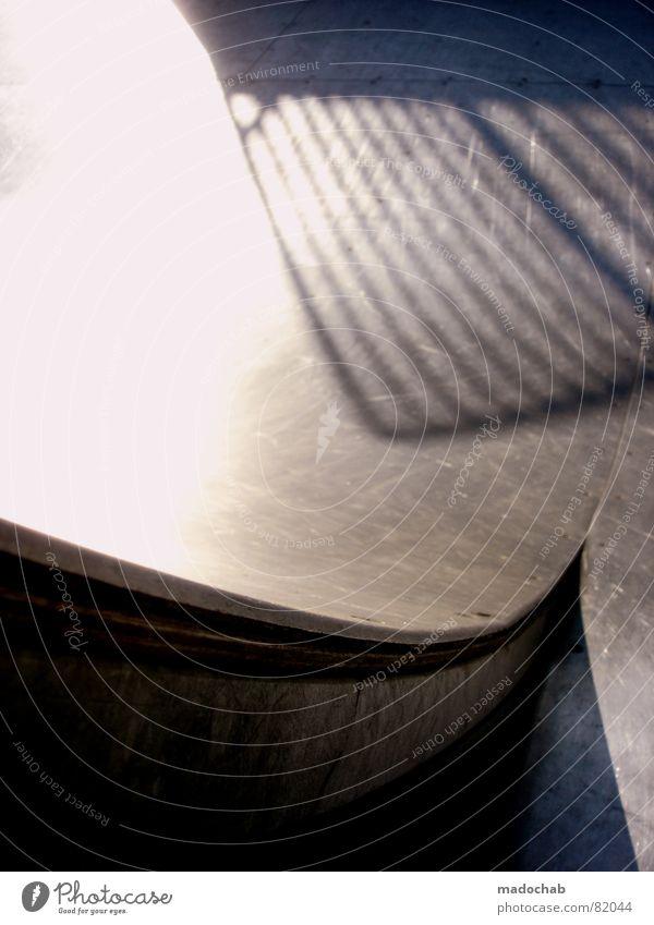 SK8 OR DIE Strukturen & Formen Skateboarding Gitter Linie Sommer Holz Halfpipe glänzend Dinge Spielen Freizeit & Hobby Funsport Schatten shadow linen lines grid